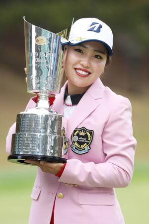 20歳古江が2週連続V=3打差逃げ切り、渋野5位―エリエール女子ゴルフ