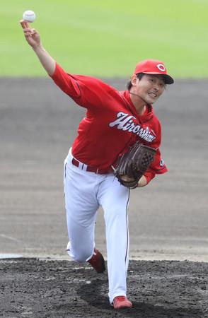 広島、激しい開幕投手争い=大瀬良、森下が競演―プロ野球練習試合